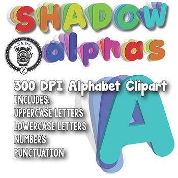 Shadows Alphabet Alpha Clip Art