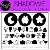 Shadows DOODLE FONT {Creative Clips Clipart}