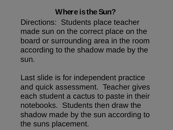 Shadows-Where is the Sun?