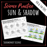 Shadows Worksheet - Earth's Rotation Practice and Lab for