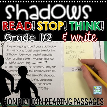 Shadows and Light Stop and Think Reading Passages ~ Nonfiction Reading Passages