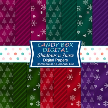 Shadows and Snow Winter Digital Background Papers
