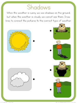 Shadows circle time questions