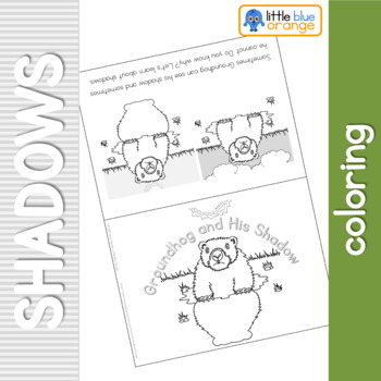 Groundhog and His Shadow - Shadows coloring booklet