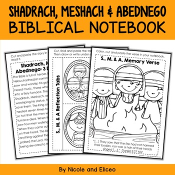 Shadrach, Meshach and Abednego Interactive Notebook Bible Unit
