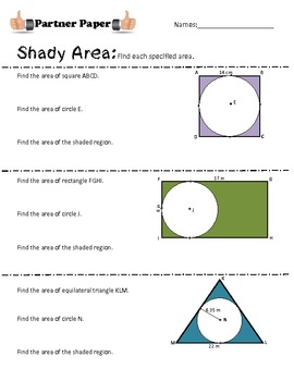 Shady Area Partner Paper