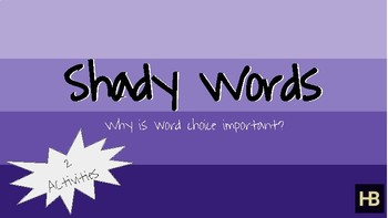 Shady Words - Why word choice is important