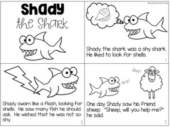 Shady the Shark {digraph /sh/ activity pack!}