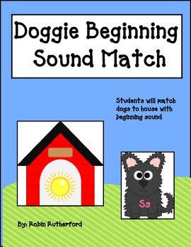 Shaggy Dog Beginning Sound picture to letter match