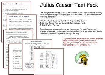 Shak. Julius Caesar Test Pack
