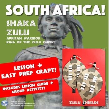 South Africa! Shaka Zulu Lesson | Zulu Warrior Shield Craft - Easy Prep