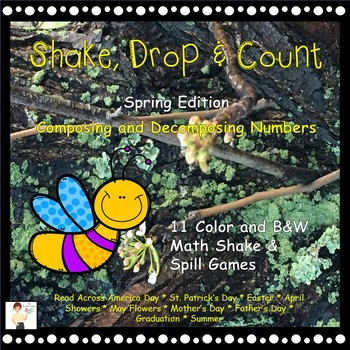 Shake, Drop and Count - Shake and Spill Math Games - Spring Edition