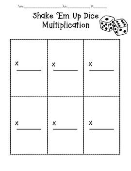 Shake 'Em Up Dice Multiplication