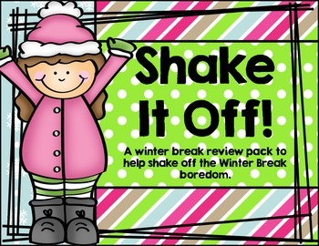 Shake It Off!  Kindergerten Winter Break Review Pack
