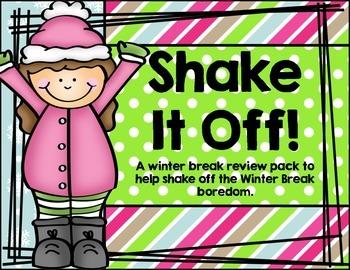 Shake It Off!  Kindergerten Winter Break Review Pack