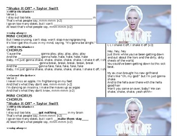 Shake It Off - Taylor Swift Listening Activity