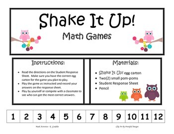 Shake It Up! Addition & Subtraction Facts