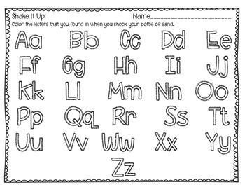 Shake It Up Alphabet Search Literacy Center