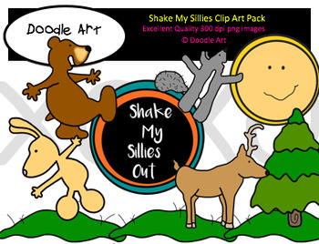 Shake the Sillies Clipart Pack