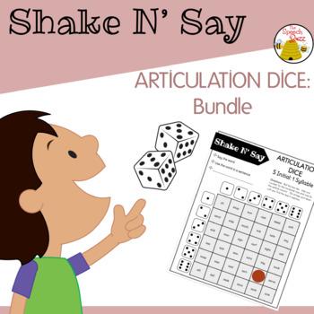 Shake N' Say Articulation Dice: BUNDLE