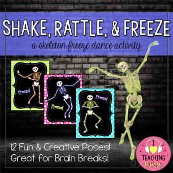 Shake, Rattle, & Freeze! - A Skeleton Freeze Dance Activity
