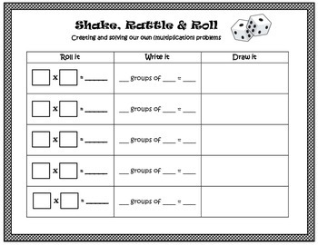 Shake, Rattle, & Roll- A Multiplication Dice Game