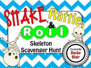 Shake, Rattle, & Roll Skeleton Scavenger Hunt