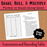 Shake, Roll, and Multiply Multiplication Facts Game 3.OA.C.7