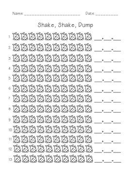 Shake, Shake, Dump-- Addition to 10