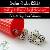 Shake, Shake, Roll (Add Up to Four 2-Digit Numbers)