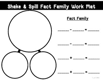 Shake & Spill Fact Family Work Mat