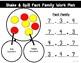 Shake & Spill Fact Family Work Mat