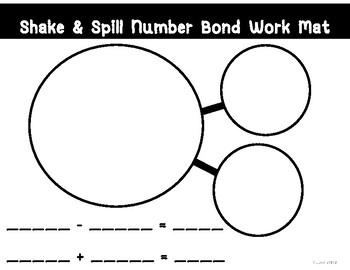 Shake & Spill Number Bond Work Mat