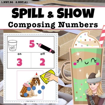 Shake Spill + Show! Composing Numbers Game Part Whole Bar Model BAKERY FUN