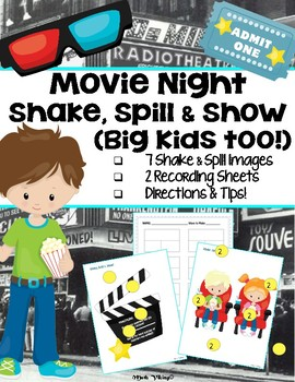 Shake Spill + Show! Composing Numbers Game Part Whole Bar Model MOVIE NIGHT