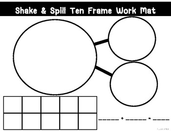 Shake & Spill Ten Frame Work Mat
