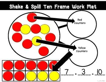 Shake & Spill Ten Frame Work Mat