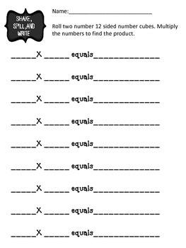 Shake, Spill, and Write Math