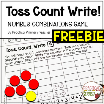 Addition Number Combinations Math Game FREEBIE