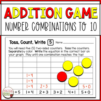 Addition Number Combinations Math Game - Shake Up!