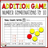 Shake Up Math Game - Addition , Number Combinations