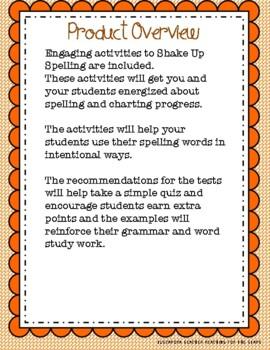 Shake Up Spelling