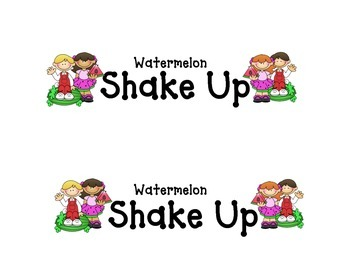 Shake-Up: Watermelon Shake Up
