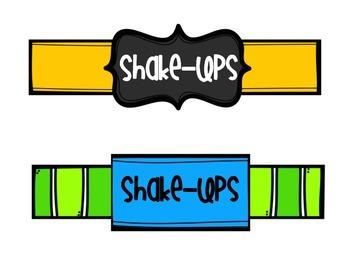 Shake-Ups - Fun Ways to Change Everyday Tasks