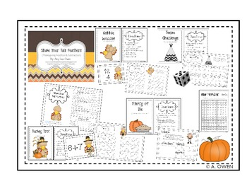 Shake Your Tail Feathers (Thanksgiving Addition & Subtraction)