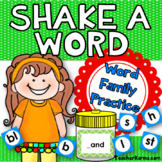 Word Family -  Decoding, Phonics, & Fluency - Word Study - Shake a Word Activity