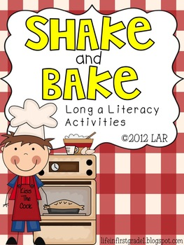 Shake and Bake Long a Literacy Activities