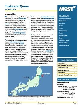 Shake and Quake:  Earthquake Study