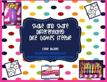 Shake and Share Differentiated Dice Games FREEBIE!