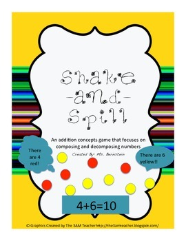 Shake and Spill Addition Game